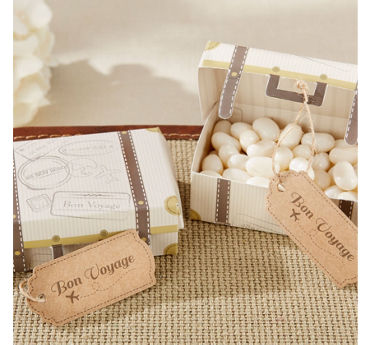 Vintage Suitcase Favor Boxes