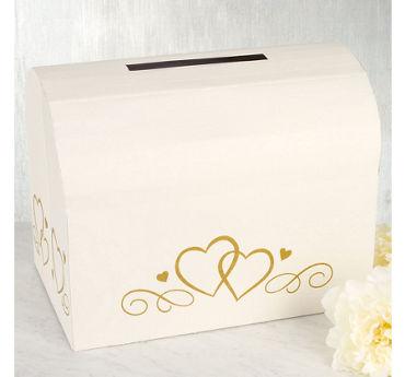 Ivory Wedding Card Holder Box