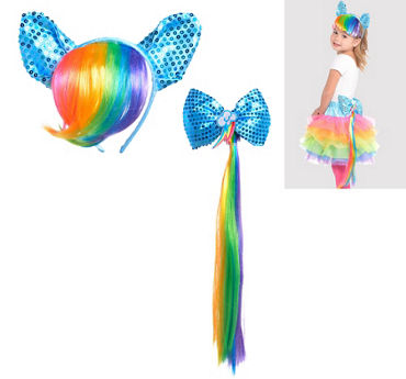 Child Rainbow Dash Costume Accessory Kit 2pc - My Little Pony