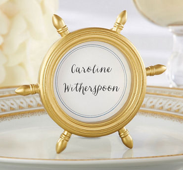 Ship Wheel Photo Frame Place Card Holder