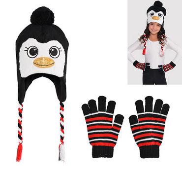 Child Penguin Peruvian Hat & Gloves