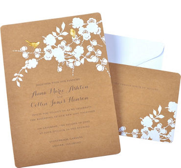 quick shop kraft bird printable wedding invitations kit 50ct paper cards - Blank Wedding Invitation Paper
