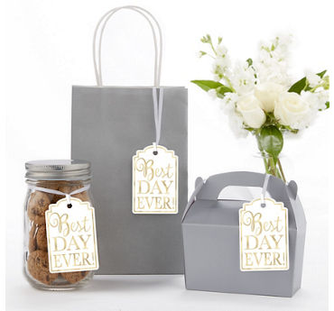 White Best Day Ever Favor Tags 25ct