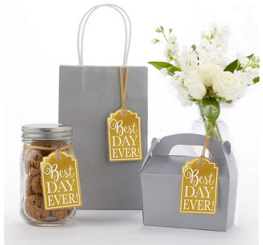 Gold Best Day Ever Favor Tags 25ct