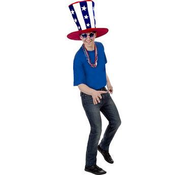 Mens Uncle Sam Patriotic Super Accessory Kit