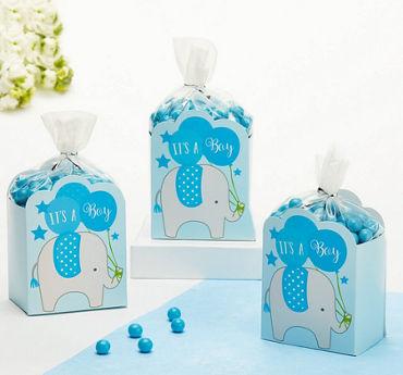 Blue It's a Boy Baby Shower Favor Box Kit 8ct