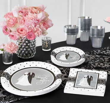 Black & White Wedding Party Supplies