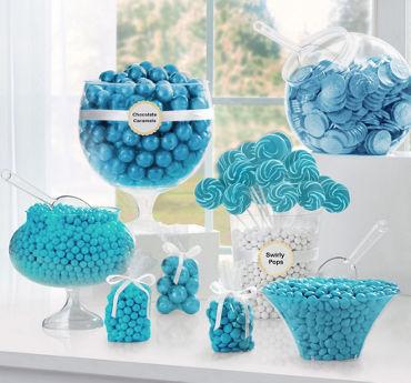 caribbean blue candy buffet