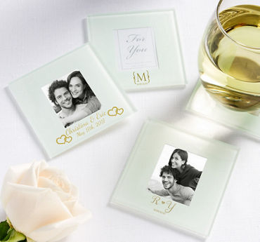 Personalized Photo Glass Coasters (Printed Glass)