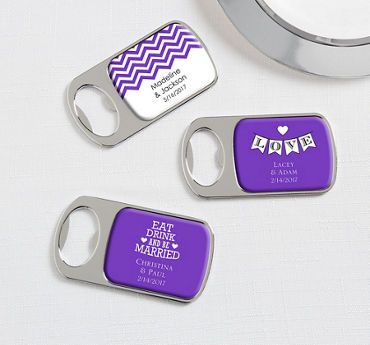 Personalized Bottle Openers - Silver (Printed Epoxy Label)