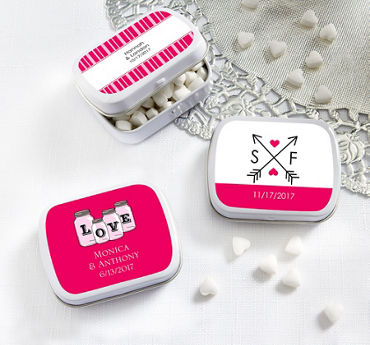 Personalized Mint Tins with Candy (Printed Label)
