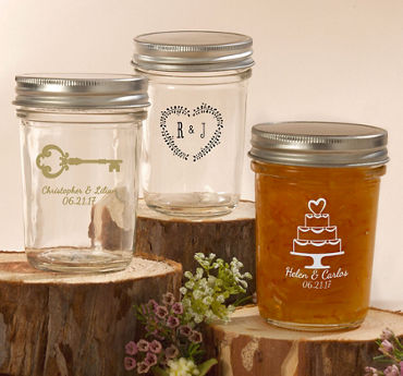 Personalized Mason Jars with Solid Lids (Printed Glass)