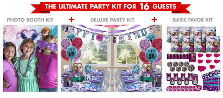 Frozen Party Supplies Ultimate Party Kit