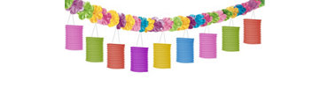Luau Lantern Garland 12ft