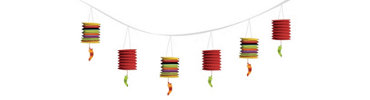 Chili Pepper Lantern Garland 12ft