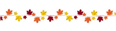 Fall Leaves Jumbo Wire Garland 12ft