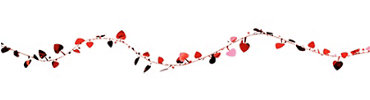 Red Hearts Wire Garland 12ft