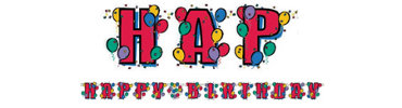 Balloon Party Happy Birthday Letter Banner 8ft