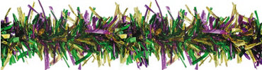 Mardi Gras Boa Tinsel Garland 9ft