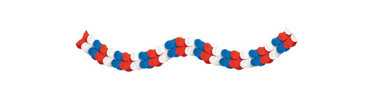 Red, White & Blue Paper Holiday Garland 9ft