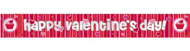 Valentines Day Foil Banner 9ft