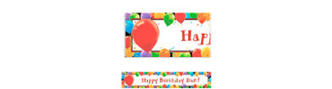 Balloon Celebration Custom Birthday Banner