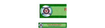 Washington Nationals Custom Banner 6ft