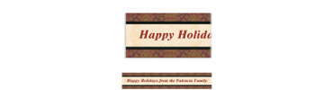 Holiday Style Custom Banner 6ft