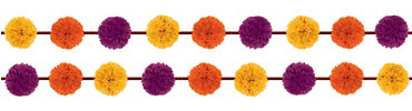 Fall Fluffy Garland 12ft 2ct