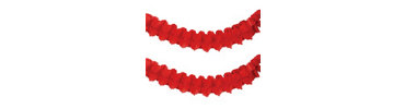 Red Paper Garland 12ft