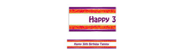 Birthday Cumpleanos Custom Banner 6ft