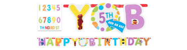 Add an Age Sesame Street Letter Banner 10ft