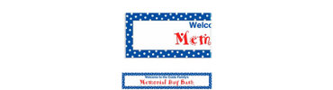 Blue Polka Dot Custom Banner 6ft