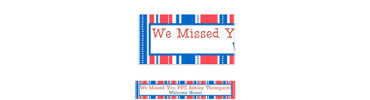 American Summer Stripes Welcome Home Custom Banner 6ft