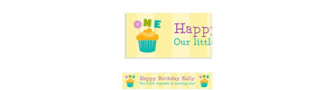 Lined Up Cupcakes Custom Banner 6ft