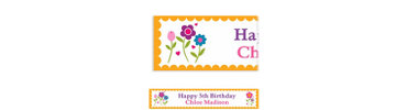Pretty Flowers with Scallop Custom Banner 6ft