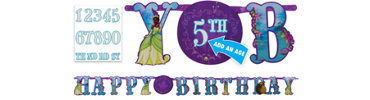 Add an Age Princess and the Frog Letter Banner 10 1/2ft