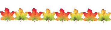 Paper Fall Leaf Garland 8ft