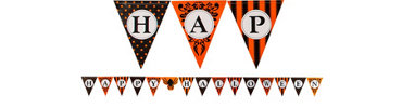Halloween Paper Pennant 12 1/2ft