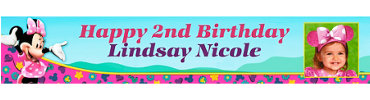 Minnie's Clubhouse Custom Photo Banner 6ft