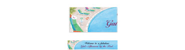 Lounging by the Pool Custom Banner 6ft