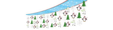 Joyful Snowman Foil Ceiling Decoration 12ft