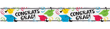 Foil Multicolor Graduation Banner 9ft