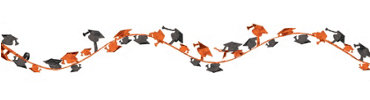 Orange Wire Graduation Garland 12ft