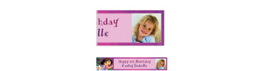 Dora Flower Fun Custom Photo Banner 6ft