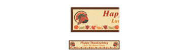 Thanksgiving Holiday Custom Banner 6ft