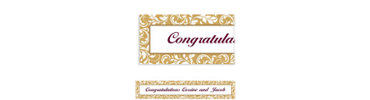 Golden Wedding Custom Banner 6ft