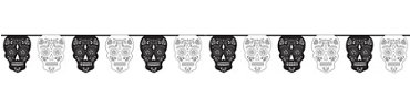 Black & White Sugar Skull Garland
