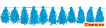 Caribbean Blue Tassel Garland