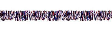 Red, White & Blue Patriotic Tinsel Garland